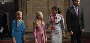 Post de Suma y sigue en Oviedo: del vestidazo de Letizia al look similar de Leonor y Sofía