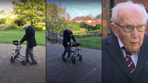 Un hombre centenario recauda más de 13 millones para la sanidad con sus paseos