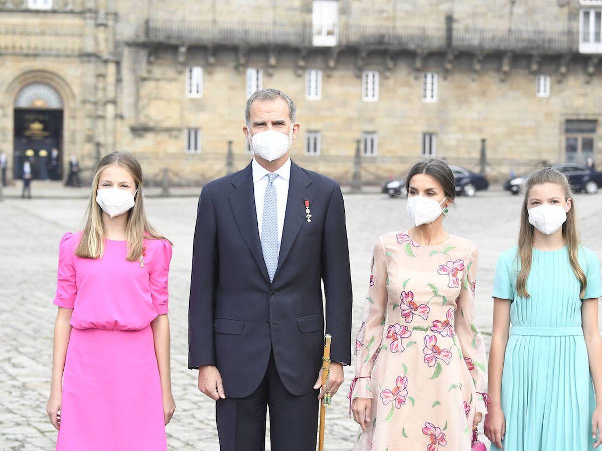 Foto: La familia Real en Santiago de Compostela. (Limited Pictures)