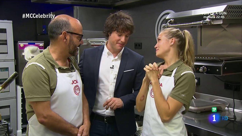 José Corbacho y Patricia Montero en 'MasterChef Celebrity 2'. (RTVE)