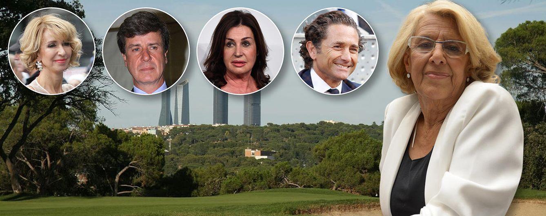 Foto: Algunos de los ilustres personajes que responden a Manuela Carmena (Fotomontaje: Vanitatis)