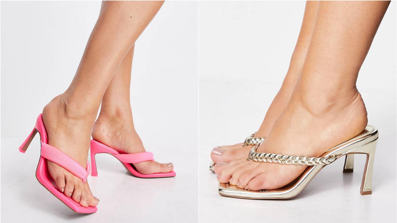 Sandalias de dedo, éxito de ventas en Asos. (Cortesía)