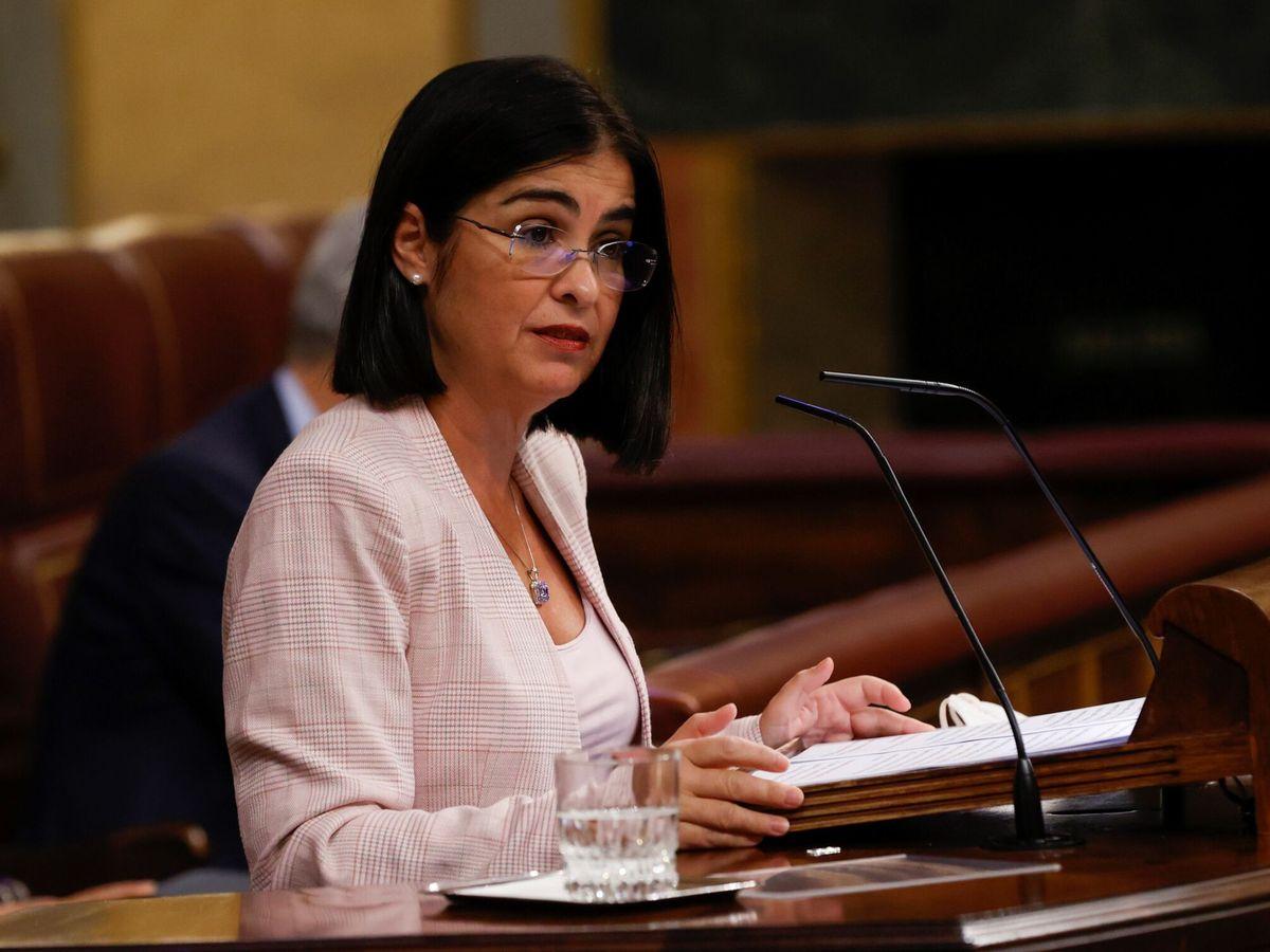 Foto: La ministra de Sanidad, Carolina Darias, este miércoles en el Congreso. (EFE)