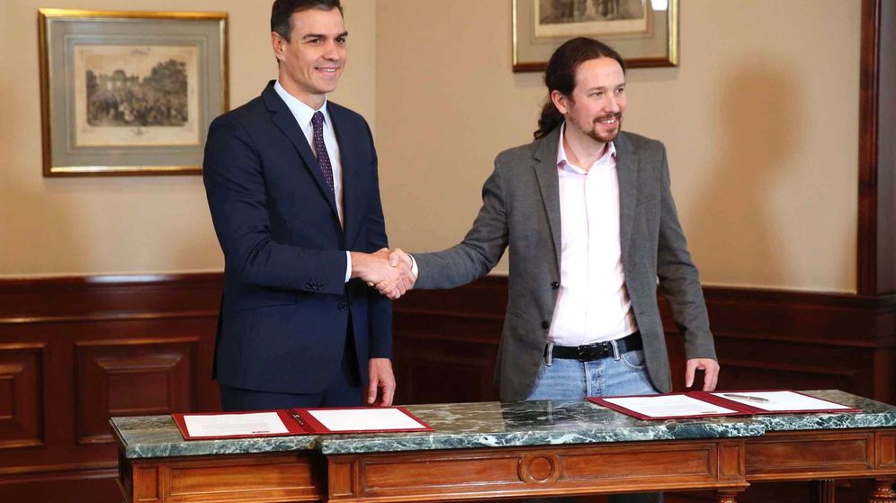 Foto: Este es el preacuerdo de Gobierno al que han llegado PSOE y Unidas Podemos. (EFE)