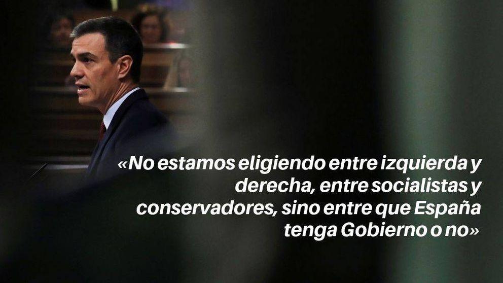 Las frases de Pedro Sánchez en su investidura: No puede haber un mausoleo