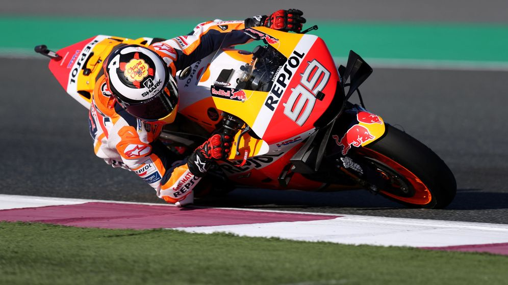 Foto: Jorge Lorenzo sobre su Honda. (EFE)