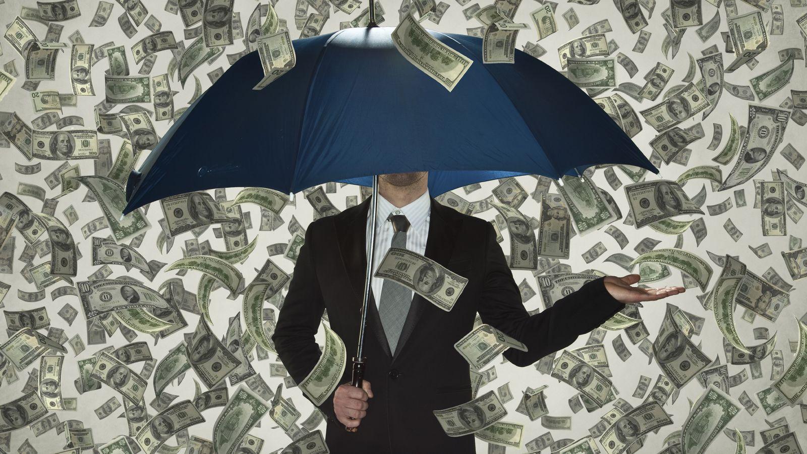 Foto: Lluvia de dinero.