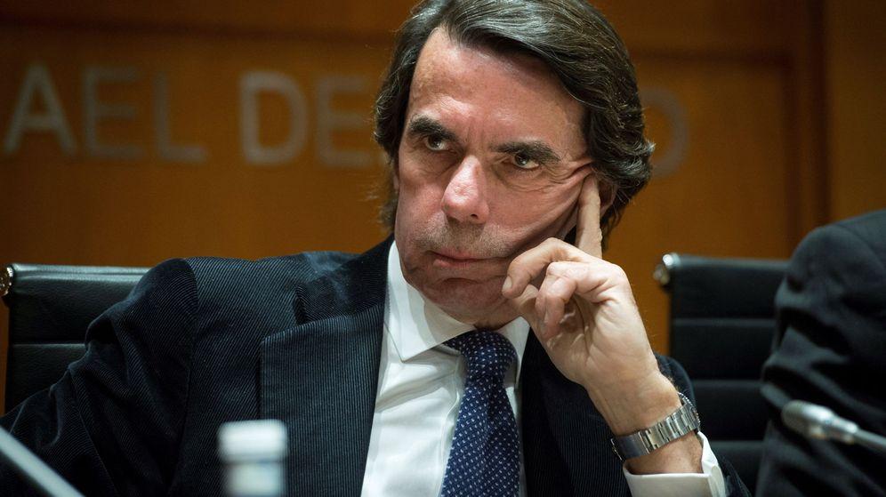 Foto: Aznar en la presentación del libro 'Lerroux. La República liberal'. (EFE)