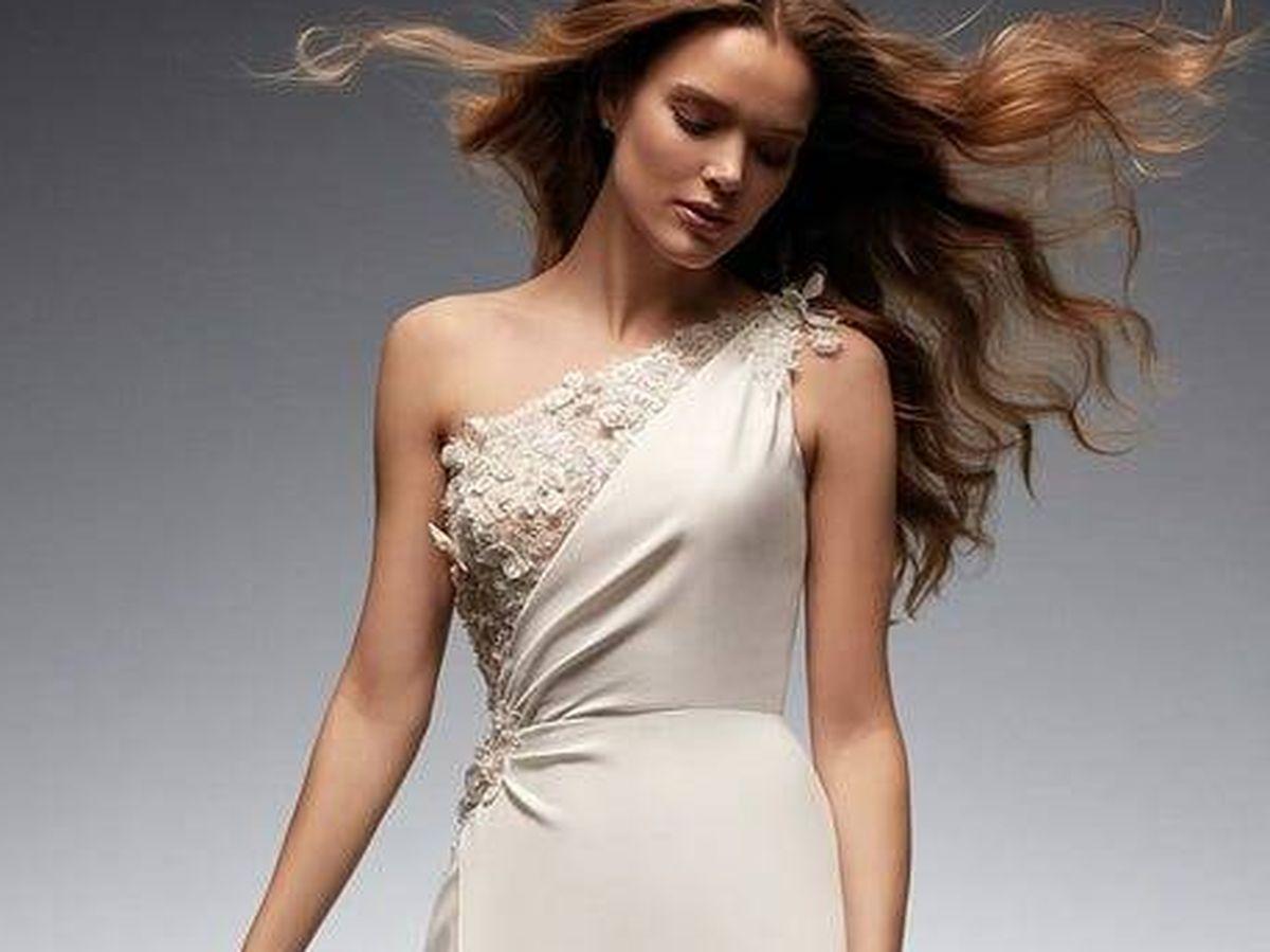 Foto: Vestido de novia de la nueva colección de Nicole Milano. (Cortesía)