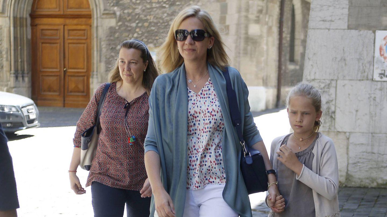 Cristina, con la Infanta e Irene Urdangarin. (Gtres)