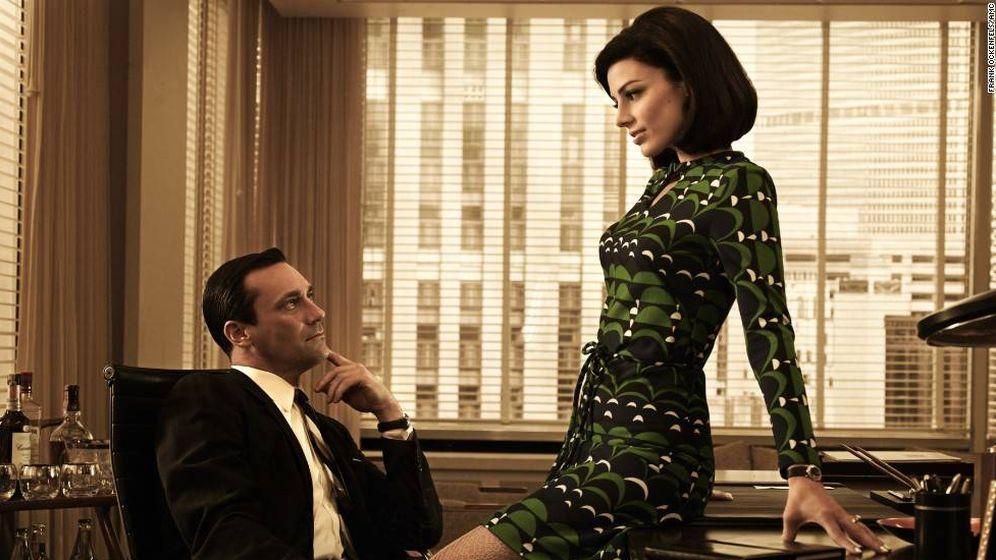 Foto: 'Mad Men' o ten cuidado con esas miraditas en la oficina.