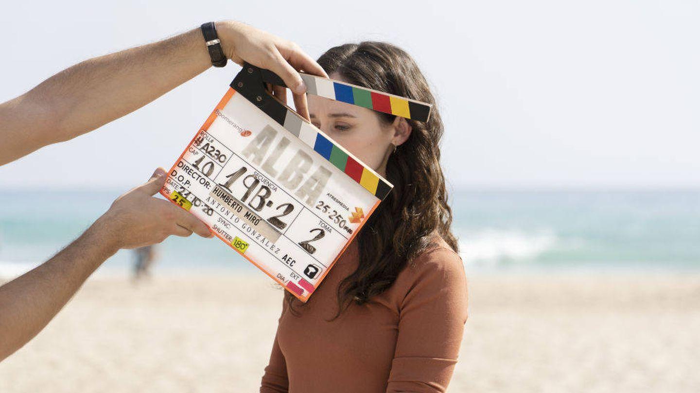 Elena Rivera durante el rodaje de la serie 'Alba'. (Atresmedia)
