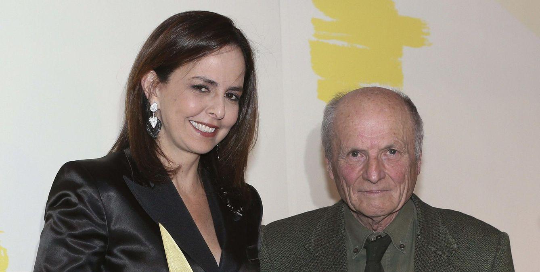 Foto: Solita Mishaan junto con Antonio López, en los Premios Mecenazgo Iberoamericano. (EFE)