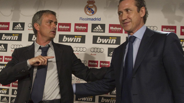 Mourinho y Valdano, durante la etapa en la que coincidieron en el Real Madrid. (EFE)