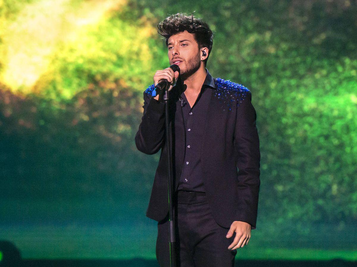 Foto: El cantante Blas Cantó en 'Destino Eurovisión'. (TVE)