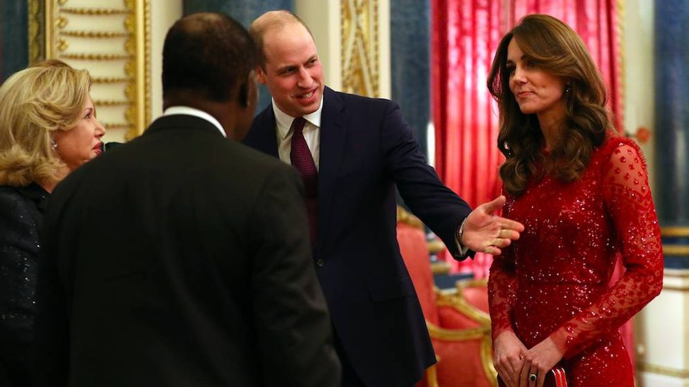 Foto: Kate Middleton con su vestido de Needle and Threat. (Getty)