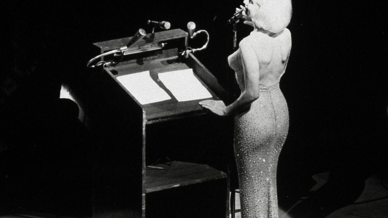 Marilyn, en plena canción. (CP)