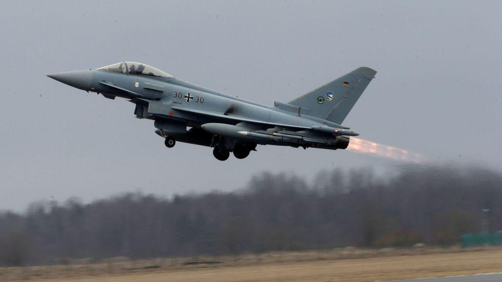 Foto: Así es el Eurofighter estrellado hoy en Albacete. (Reuters)