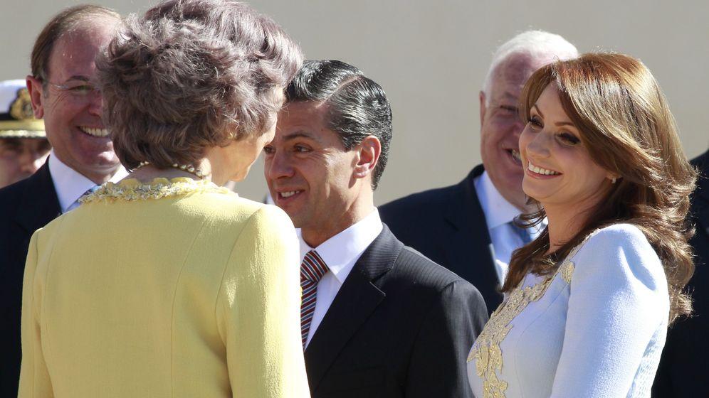 Foto: Angélica Rivera y su marido, el presidente Enrique Peña Prieto, el pasado 9 de junio en Madrod (Gtres)