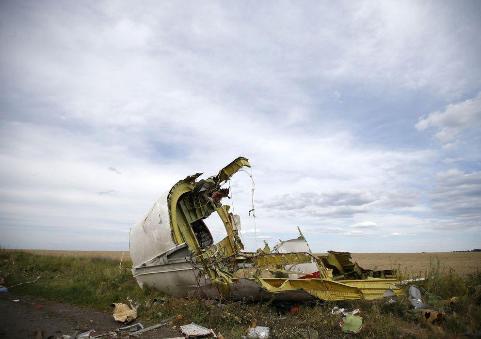 Foto: Restos del avión derribado al este de Ucrania. (Reuters)