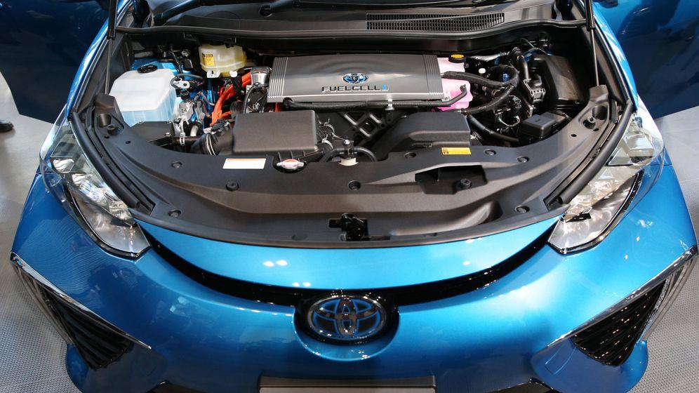 Foto: El Mirai de Toyota funciona con una pila de combustible.