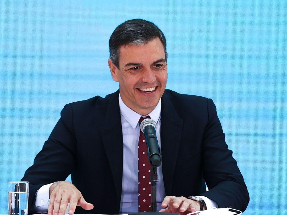 Foto: Pedro Sánchez, durante su encuentro con el presidente argentino. (EFE)