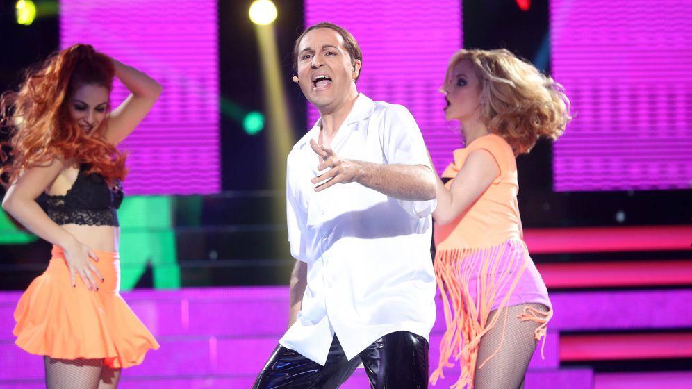 Foto: Raúl Pérez, en su visita a 'Tu cara me suena'.