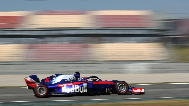 El Toro Rosso dejó buenas sensaciones en la jornada matinal. (Reuters)