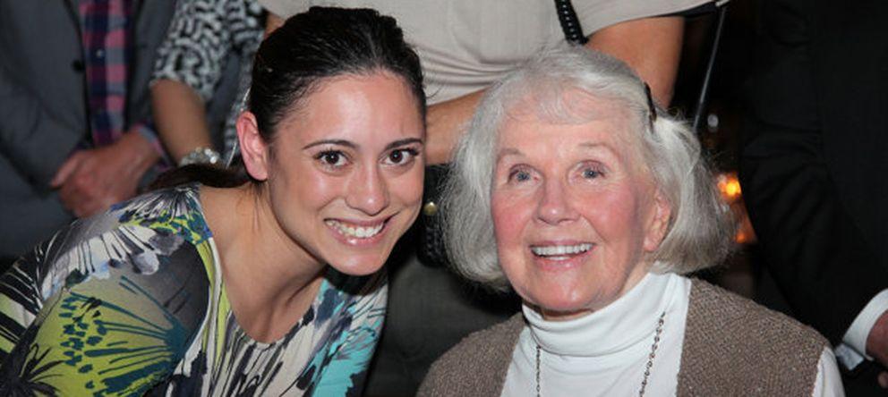 Foto: La actriz, en una de las imágenes de su 90 cumpleaños