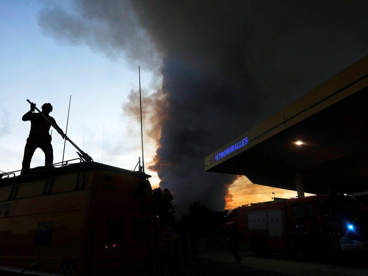Foto: Incendio en Santa Coloma de Queralt. (EFE)