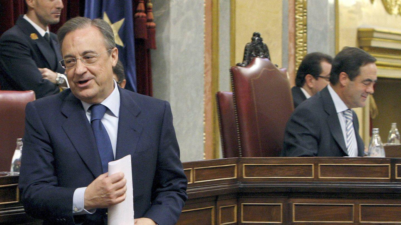 Florentino Pérez, en el aniversario de la Constitución. (EFE)