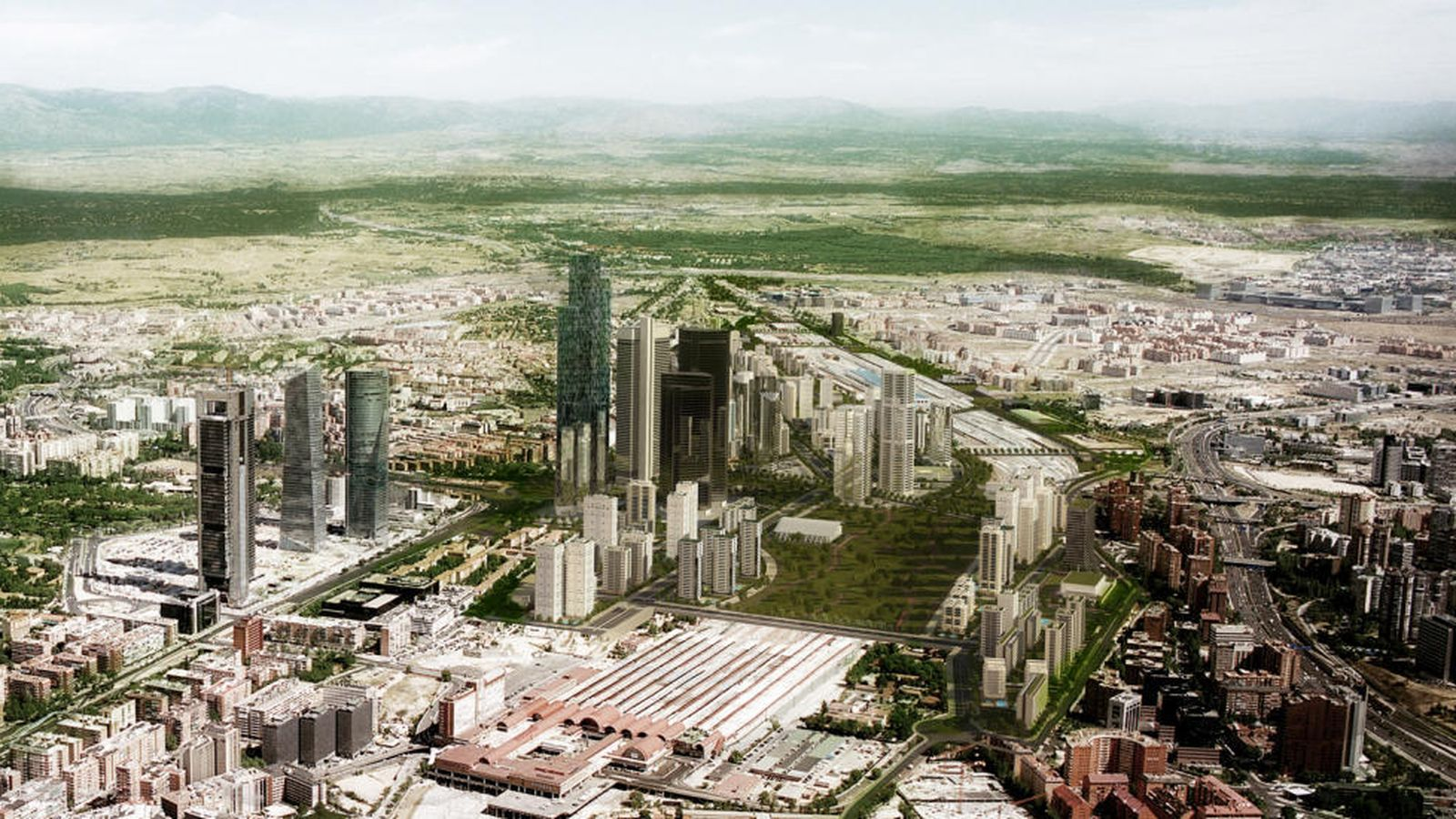 Foto: Vista general de Distrito Castellana Norte, el desarrollo de Operación Chamartín.
