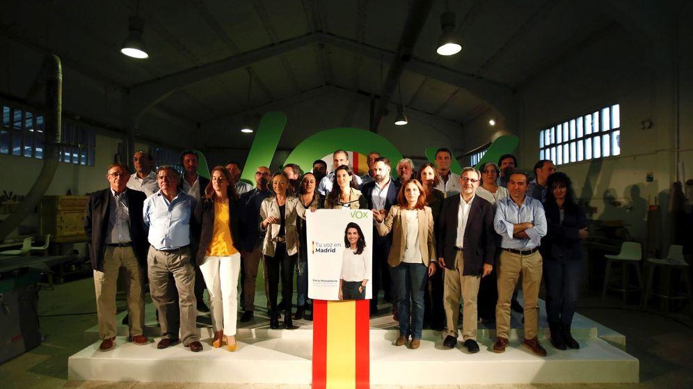 Foto: Acto previo al inicio de campaña de las elecciones municipales, autonómicas y europeas de Vox (Efe)