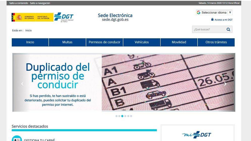 Foto: Web de la DGT. Foto: DGT