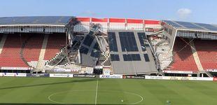Post de El temporal de viento destroza el estadio del AZ Alkmaar holandés