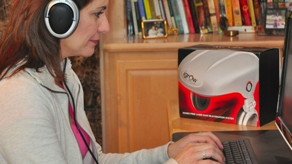 Un casco que promete poner fin a la calvicie