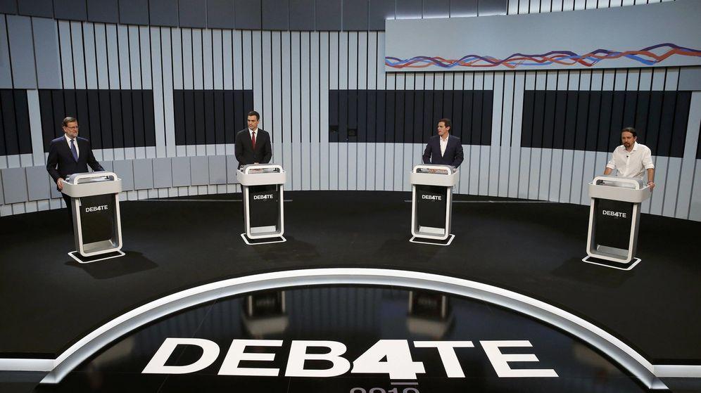 Foto: El debate a cuatro entre Rajoy, Sánchez, Iglesias y Rivera