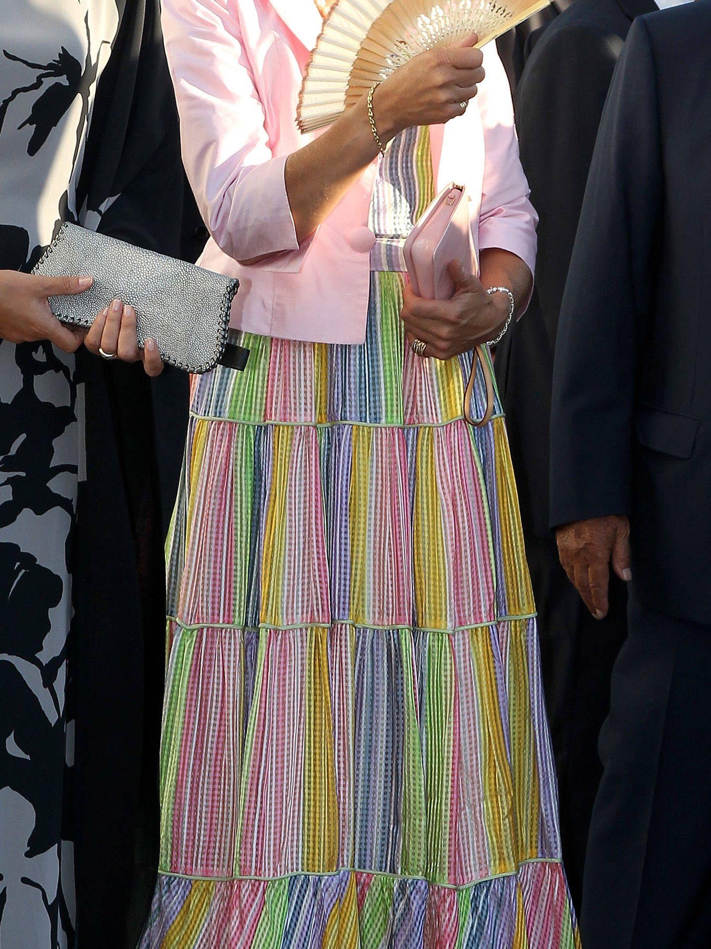 La infanta Elena, en la boda de Nicolás de Grecia y Tatiana Blatnik, en 2010. (Getty)