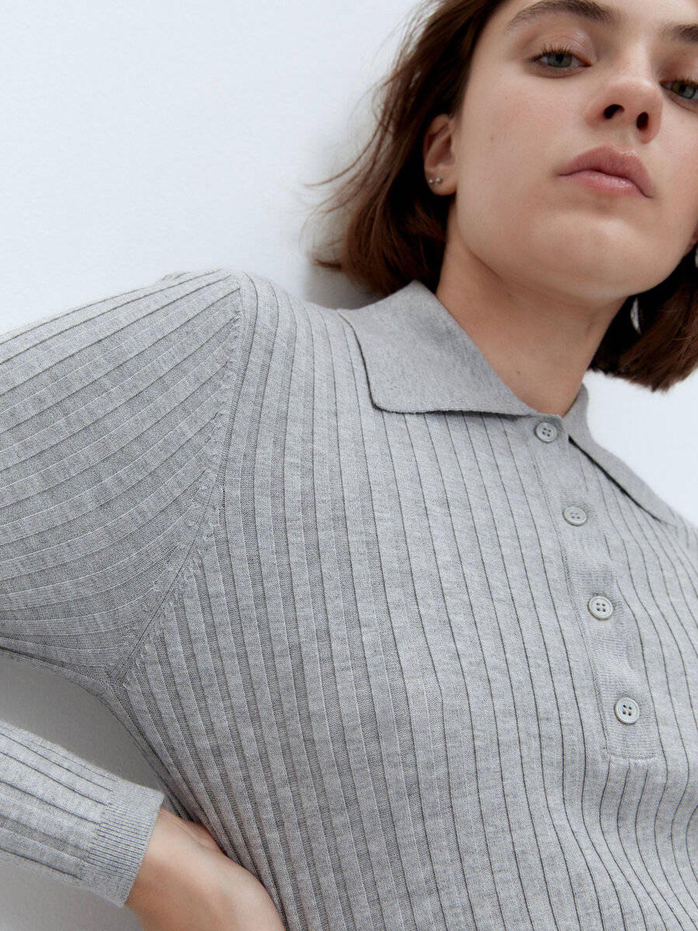 El jersey-polo de Uterqüe. (Cortesía)