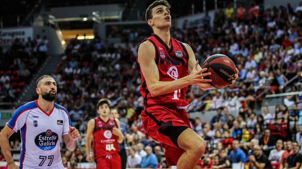 Zaragoza's point guard, Carlos Alocen could be a second round pick in the 2020 NBA Draft. (Photo: E. Casas/El Confidencial, ACB Photo.)