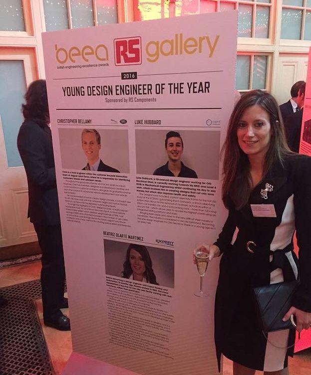 Foto: Beatriz Olarte en la ceremonia de entrega de los premios BEEA en Londres