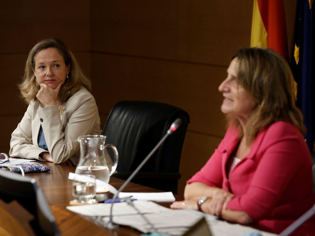 Foto: Calviño con Ribera en una imagen de julio. (EFE)