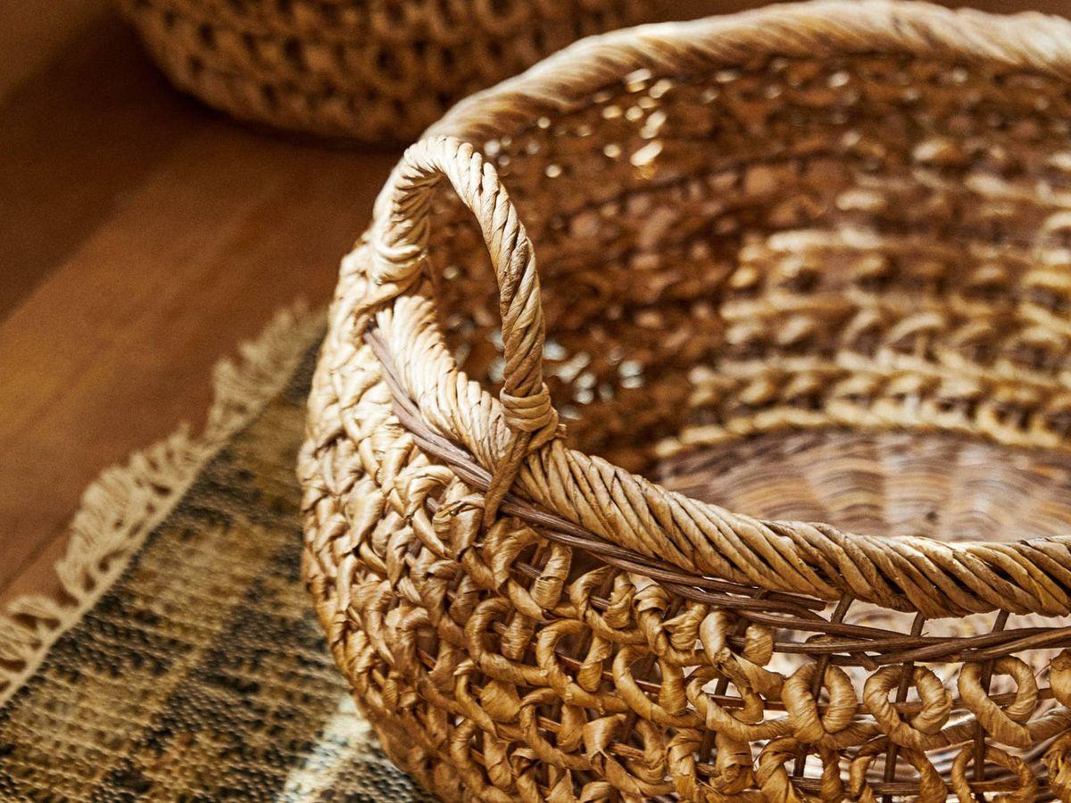 Foto: Estas cestas de Zara Home son perfectas para la decoración de tu salón. (Cortesía)