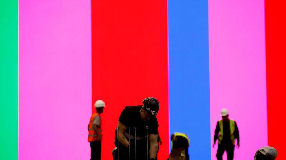 Foto: Poniendo todo a punto para Eurovisión en Tel Aviv. (Reuters)
