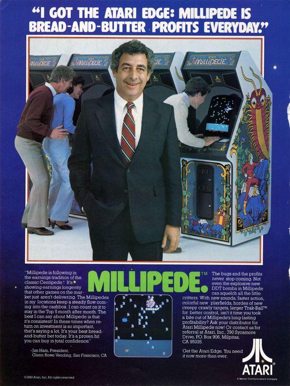 Publicidad de 'Millipede'. (Atari)