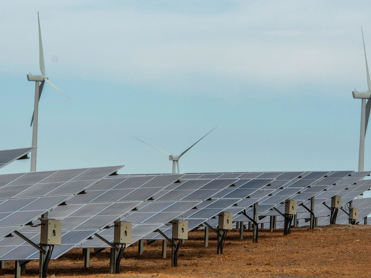 Foto: Foto de archivo de una planta fotovoltaica. (EFE)