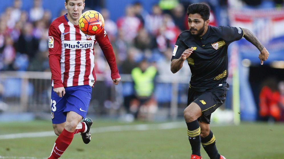 Foto: Vietto en acción durante el Atlético de Madrid-Sevilla de la pasada temporada (EFE)