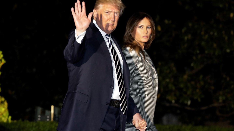 Donald Trump y Melania en una imagen reciente. (EFE)