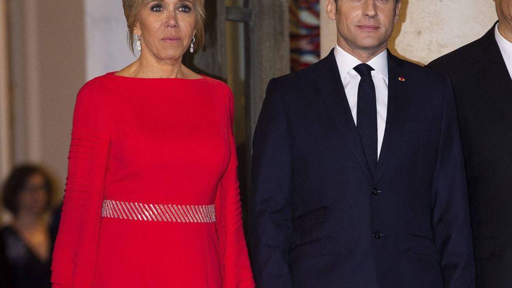 Foto: Brigitte y Enmanuelle Macron en la cena con el presidente chino, Xi Jinping. (Cordon Press)