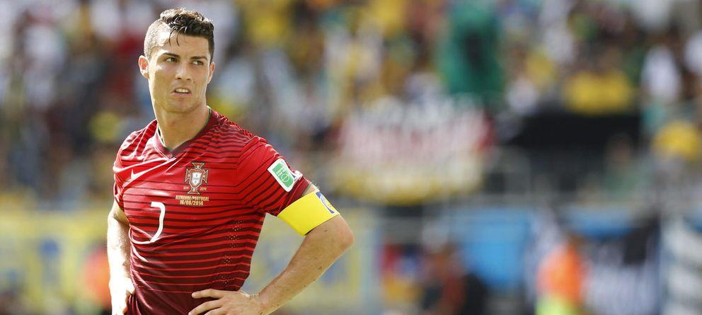 Foto: Cristiano después de la derrota de Portugal ante Alemania (Efe).